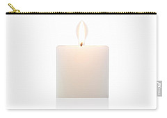 Carry-all Pouch featuring the photograph Cubic Burning Candle  by Atiketta Sangasaeng