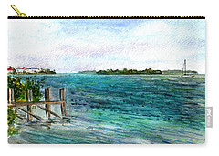Carry-all Pouch featuring the painting Cudjoe Bay by Clara Sue Beym