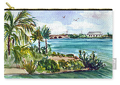 Carry-all Pouch featuring the painting Cudjoe Key Bridge by Clara Sue Beym
