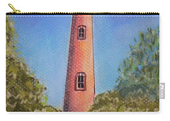Carry-all Pouch featuring the pastel Currituck Lighthouse Nc by Julie Brugh Riffey