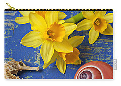 Daffodils And Seahorse Carry-all Pouch