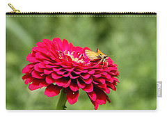 Carry-all Pouch featuring the photograph Dahlia's Moth by Elizabeth Winter