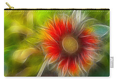 Carry-all Pouch featuring the photograph Dalia Pseudo Fractal by Lynne Jenkins