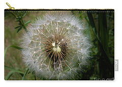 Carry-all Pouch featuring the photograph Dandelion Going To Seed by Sherman Perry