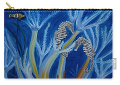 Carry-all Pouch featuring the painting Date Night On The Reef by Julie Brugh Riffey