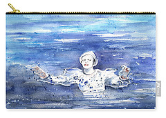 David Bowie In Ashes To Ashes Carry-all Pouch by Miki De Goodaboom