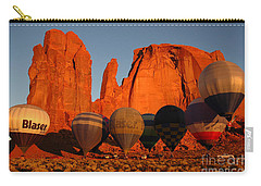 Dawn Flight In Monument Valley Carry-all Pouch by Vivian Christopher