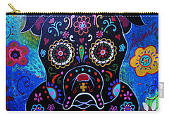 Day Of The Dead Bulldog Carry-all Pouch
