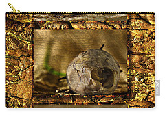 Carry-all Pouch featuring the photograph Dead Rosebud Triptych by Steve Purnell