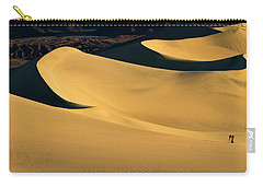 Death Valley And Photographer In Morning Sun Carry-all Pouch