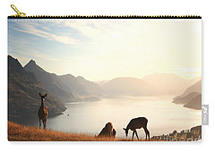 Deer At Sunset Carry-all Pouch by Pixel  Chimp