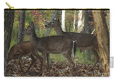 Carry-all Pouch featuring the photograph Deer In Forest by Lydia Holly