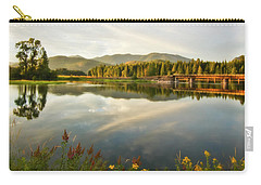 Carry-all Pouch featuring the photograph Deer Island Bridge by Albert Seger