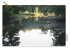Deer River In Early Sun Carry-all Pouch