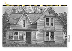 Carry-all Pouch featuring the photograph Defiance B/w by Bonfire Photography