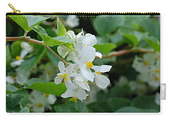 Carry-all Pouch featuring the photograph Delicate White Flower by Jennifer Ancker