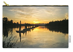 Carry-all Pouch featuring the photograph Delta Sunset by Albert Seger