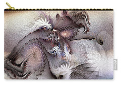 Carry-all Pouch featuring the digital art Derailing Destiny by Casey Kotas