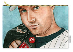 Derek Jeter  Carry-all Pouch by Bruce Lennon