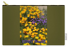Carry-all Pouch featuring the photograph Desert Beauty by Carla Parris