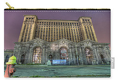 Detroit's Michigan Central Station - Michigan Central Depot Carry-all Pouch by Nicholas  Grunas