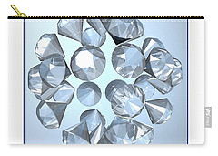 Carry-all Pouch featuring the digital art Diamonds... by Tim Fillingim