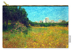 Carry-all Pouch featuring the photograph Do-00479 Bois Des Pins - Impressionist by Digital Oil