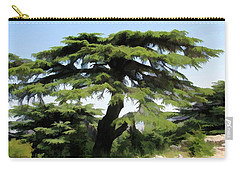 Carry-all Pouch featuring the photograph Do-00511 Cedar Forest by Digital Oil