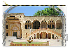 Carry-all Pouch featuring the photograph Do-00522 Emir Bechir Palace by Digital Oil