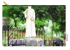 Carry-all Pouch featuring the photograph Do-00541 St Charbel Statue by Digital Oil
