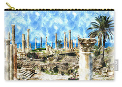 Carry-all Pouch featuring the photograph Do-00550 Ruins And Columns by Digital Oil