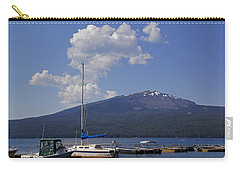 Carry-all Pouch featuring the photograph Docks At Diamond Lake by Mick Anderson