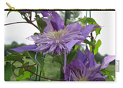 Double Clematis Named Crystal Fountain Carry-all Pouch by J McCombie