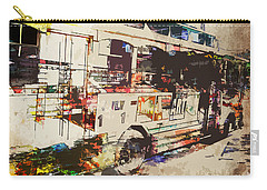 Carry-all Pouch featuring the photograph Double Decker Bus by Phil Perkins