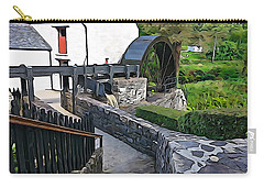 Carry-all Pouch featuring the photograph Down To The Mill by Charlie and Norma Brock