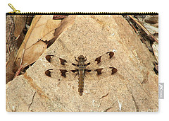 Carry-all Pouch featuring the photograph Dragonfly At Rest by Deniece Platt