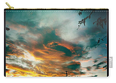 Carry-all Pouch featuring the photograph Drama In The Sky by Nina Prommer