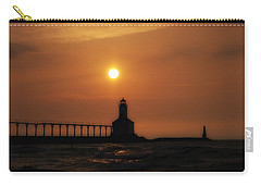 Dreamy Sunset At The Lighthouse Carry-all Pouch