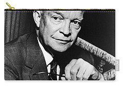 Carry-all Pouch featuring the photograph Dwight D Eisenhower - President Of The United States Of America by International  Images