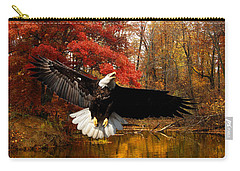 Carry-all Pouch featuring the photograph Eagle In Autumn Splendor by Randall Branham
