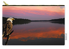Carry-all Pouch featuring the photograph Eagle Overlooking Domain by Randall Branham