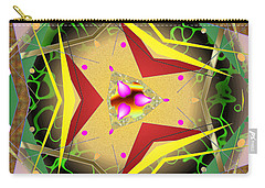 Carry-all Pouch featuring the digital art Eaorling Flower by Mario Carini