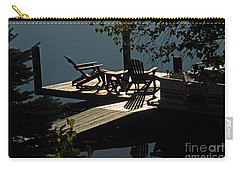 Carry-all Pouch featuring the photograph Early Morning At The Lake by Cindy Manero