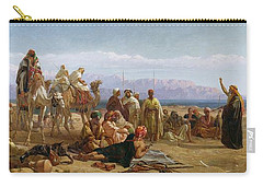 Early Morning In The Wilderness Of Shur Carry-all Pouch by Frederick Goodall