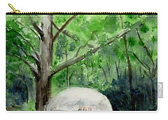 Carry-all Pouch featuring the painting Early Summer At The Geddes Farm 1 --ann Arbor  Michigan by Yoshiko Mishina