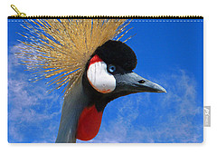 East African Crowned Crane Carry-all Pouch by Methune Hively