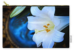 Carry-all Pouch featuring the photograph Eclipse With A Lily by Steven Sparks