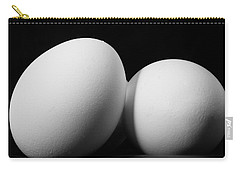 Eggs In Black And White Carry-all Pouch