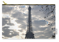 Carry-all Pouch featuring the photograph Eiffel In The Morning by Eric Tressler