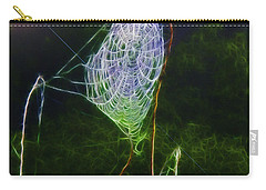 Electric Web In The Fog Carry-all Pouch by EricaMaxine  Price